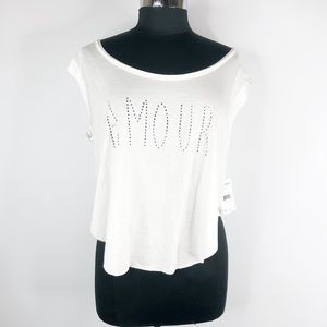 "NWT Free People Sleeveless ""Amour""Scoop-neck Tee"